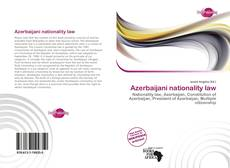 Bookcover of Azerbaijani nationality law