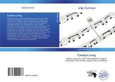 Обложка Carolyn Long