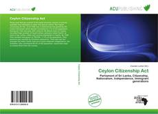 Bookcover of Ceylon Citizenship Act