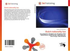 Bookcover of Dutch nationality law