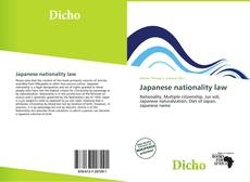Bookcover of Japanese nationality law