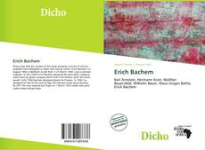Bookcover of Erich Bachem