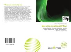 Bookcover of Moroccan nationality law