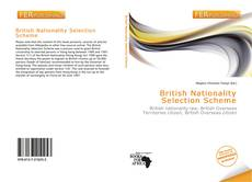 Buchcover von British Nationality Selection Scheme