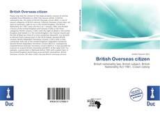 Borítókép a  British Overseas citizen - hoz