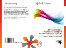 Copertina di British National (Overseas) passport
