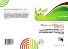 Bookcover of Government Delegation for Poland
