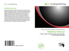 Buchcover von Adolphus Bernays