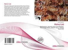 Copertina di Heinz List