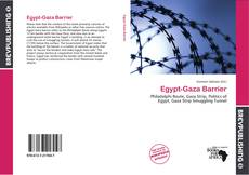 Bookcover of Egypt-Gaza Barrier