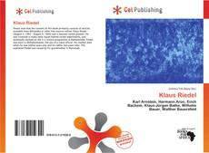 Buchcover von Klaus Riedel