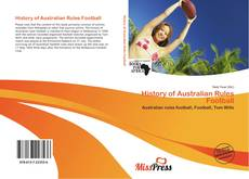 Bookcover of History of Australian Rules Football