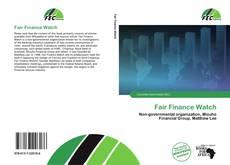Bookcover of Fair Finance Watch
