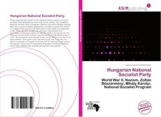 Bookcover of Hungarian National Socialist Party