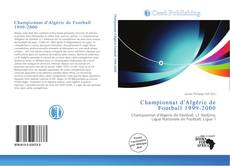 Bookcover of Championnat d'Algérie de Football 1999-2000