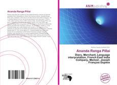 Bookcover of Ananda Ranga Pillai