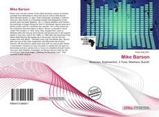 Bookcover of Mike Barson