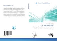 Portada del libro de Critique Radicale