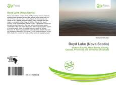 Bookcover of Boyd Lake (Nova Scotia)