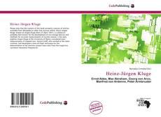 Copertina di Heinz-Jürgen Kluge