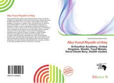 Bookcover of Abu Yusuf Riyadh ul Haq