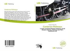 Couverture de Cambrian Railways