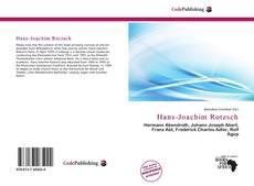 Bookcover of Hans-Joachim Rotzsch