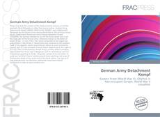 Bookcover of German Army Detachment Kempf