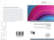 Buchcover von German Army Detachment Kempf