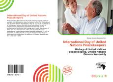 Bookcover of International Day of United Nations Peacekeepers