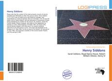 Bookcover of Henry Siddons