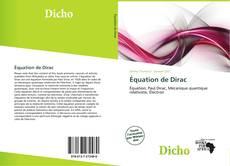 Borítókép a  Équation de Dirac - hoz