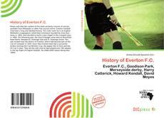 Capa do livro de History of Everton F.C.
