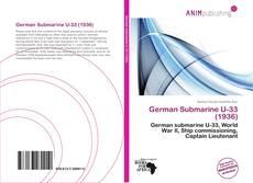 Capa do livro de German Submarine U-33 (1936)