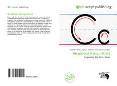 Couverture de Anaphora (Linguistics)