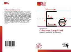 Bookcover of Coherence (Linguistics)