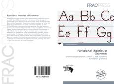 Capa do livro de Functional Theories of Grammar