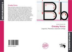 Bookcover of Creaky Voice