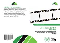 Bookcover of Joan Barry (British Actress)