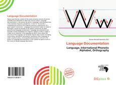 Bookcover of Language Documentation