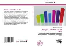 Portada del libro de Budget Control Act of 2011