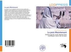 Bookcover of La paix Maintenant
