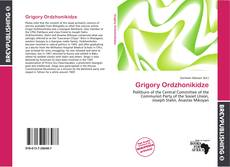 Bookcover of Grigory Ordzhonikidze