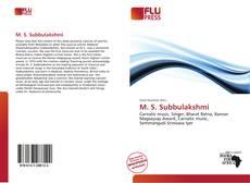 Bookcover of M. S. Subbulakshmi