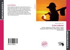 Portada del libro de Luis Lebron