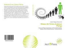 Portada del libro de Klaas de Vries (Labour Party)