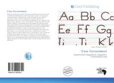 Bookcover of Case Government