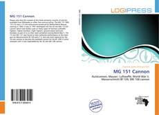 Capa do livro de MG 151 Cannon