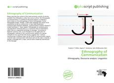 Bookcover of Ethnography of Communication