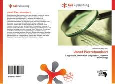 Bookcover of Janet Pierrehumbert